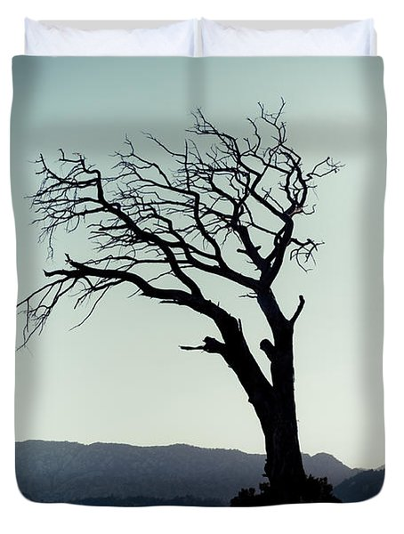 Dead Tree At The Sky Duvet Cover