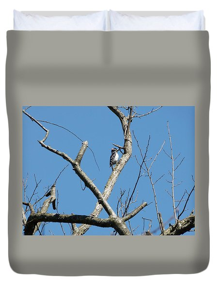 Duvet Cover featuring the photograph Dead Tree - Wildlife by Donald C Morgan