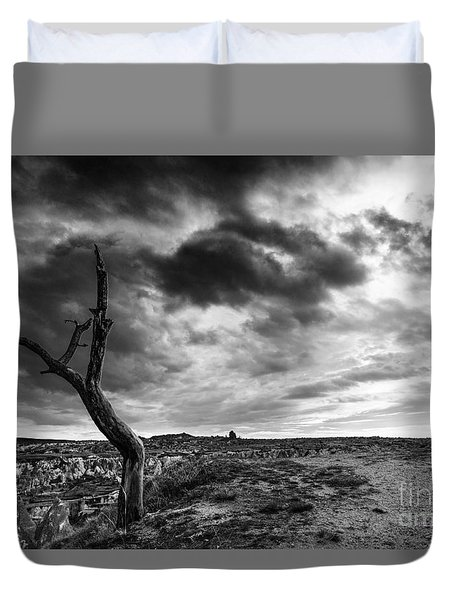 Dead Tree On Top Duvet Cover by Yuri Santin