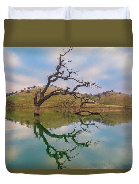 Dead Tree Reflection Duvet Cover