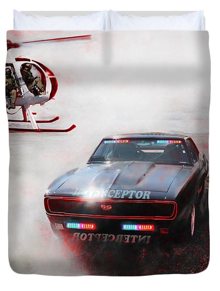 Duvet Cover featuring the photograph Deadly Pursuit by Michael Cleere