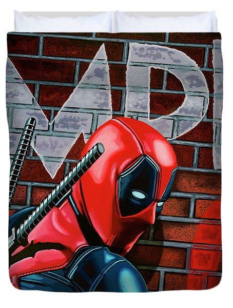 Deadpool Painting Duvet Cover