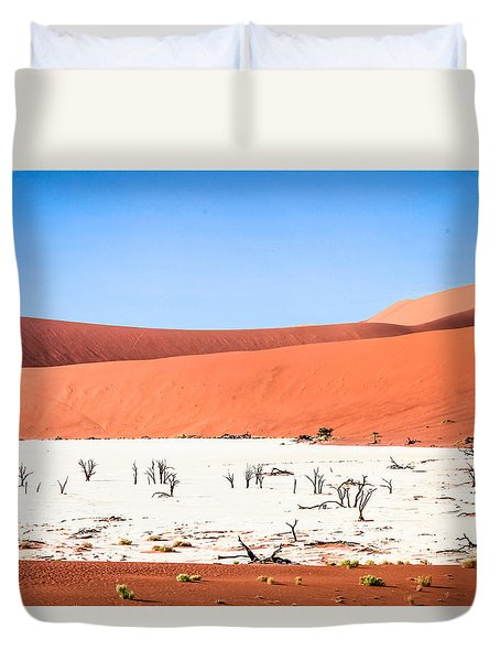 Duvet Cover featuring the photograph Deadvlei 2 by Gregory Daley  PPSA