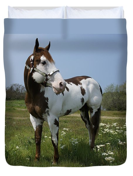 Dealer Posing Proud Duvet Cover by Mick Anderson