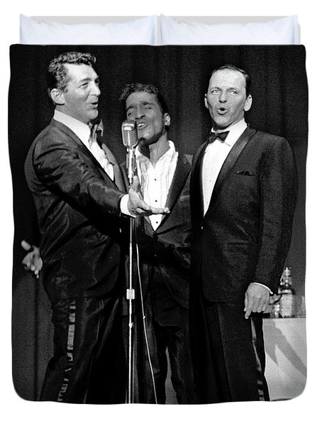 Dean Martin, Sammy Davis Jr. And Frank Sinatra. Duvet Cover