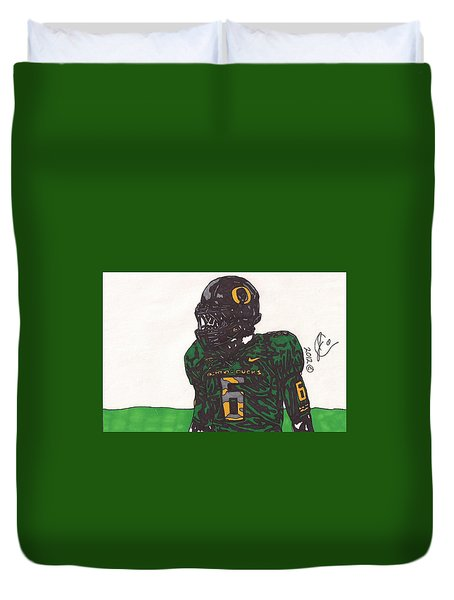 De'anthony Thomas 2 Duvet Cover by Jeremiah Colley