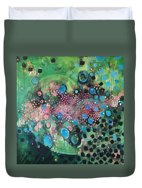 Duvet Cover featuring the painting Dear Sugar A Pocket Of Delights by Laurie Maves ART