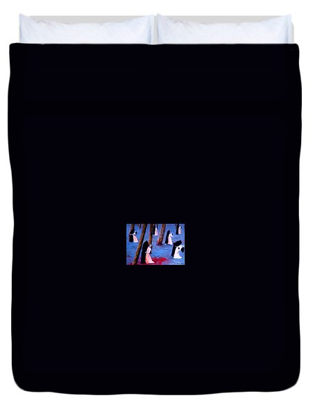 Death And The Maidens Duvet Cover