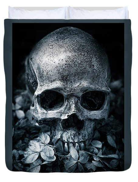 Duvet Cover featuring the photograph Death Comes To Us All by Edward Fielding