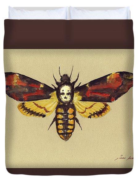 Death Head Hawk Moth Duvet Cover
