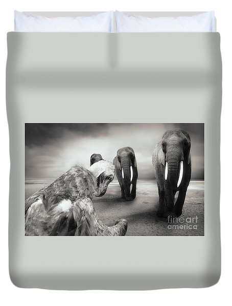 Duvet Cover featuring the photograph Death List by Christine Sponchia