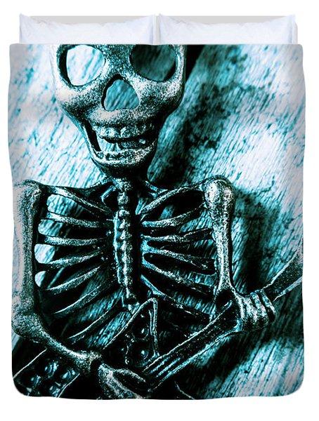 Death Metal Blues Duvet Cover