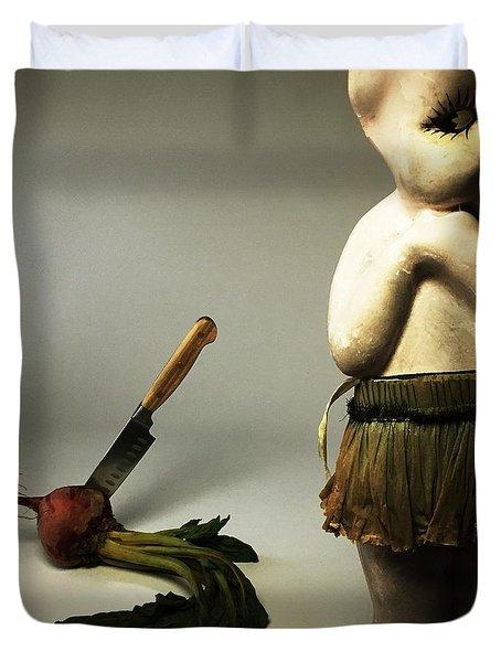 Death Of A Vegetable Duvet Cover