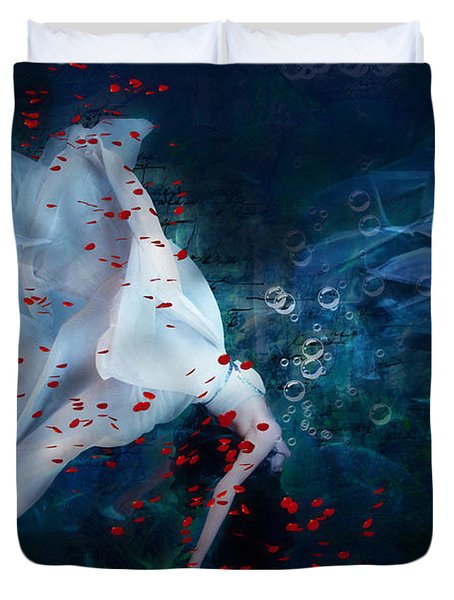 Death Of Ophelia Duvet Cover