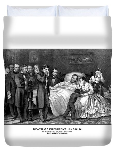 Death Of President Lincoln Duvet Cover by War Is Hell Store