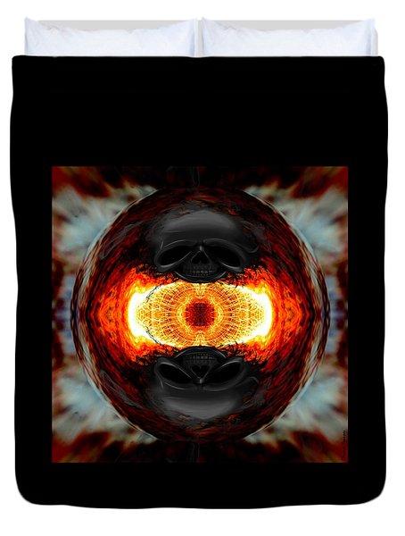 Death Orb 2  Duvet Cover