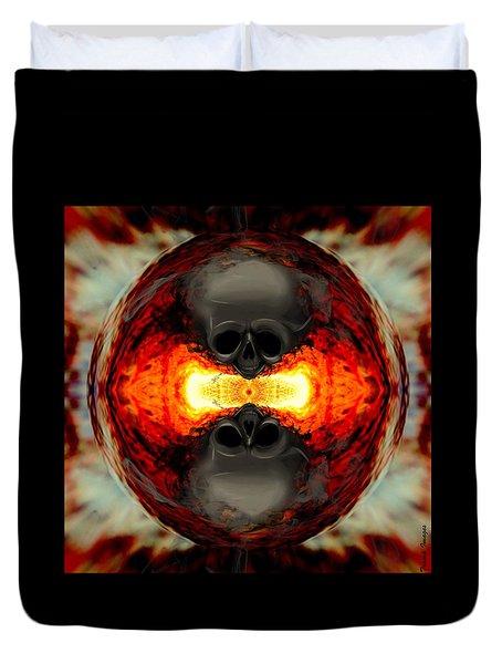 Death Orb Duvet Cover