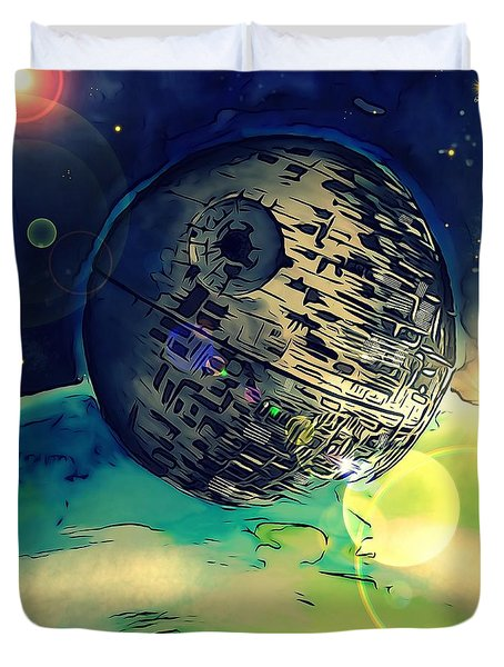 Death Star Illustration  Duvet Cover