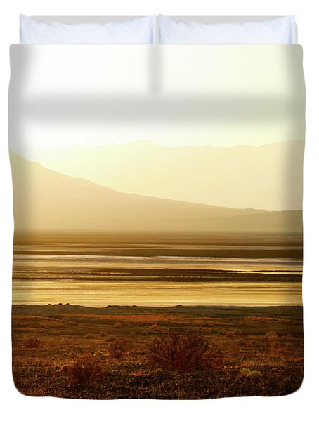 Death Valley - A Natural Geologic Museum Duvet Cover by Christine Till
