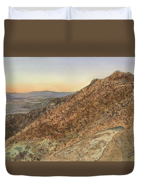 Death Valley From Dante's View  A November Sunset Duvet Cover by Joel Deutsch