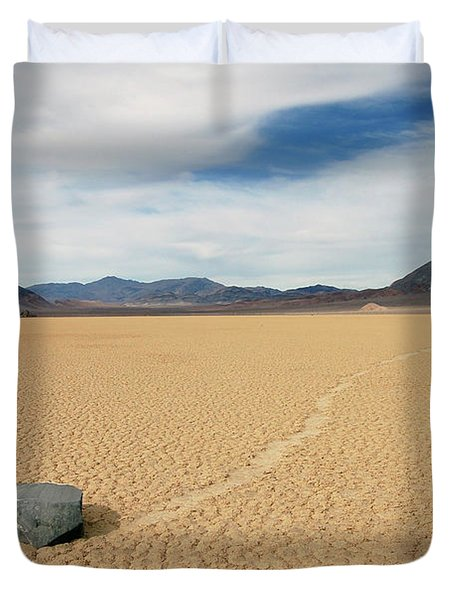 Death Valley Ractrack Duvet Cover