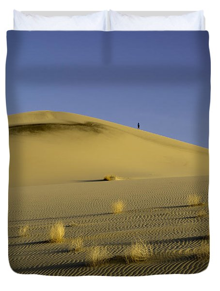 Death Valley Sand Dune At Sunset Duvet Cover