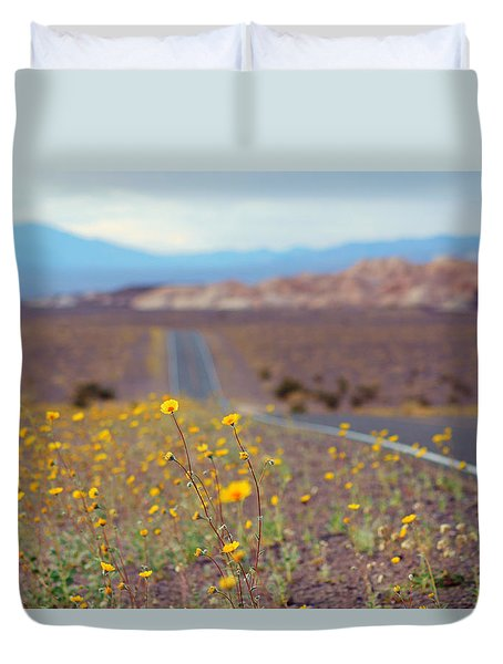 Death Valley Superbloom 101 Duvet Cover by Daniel Woodrum