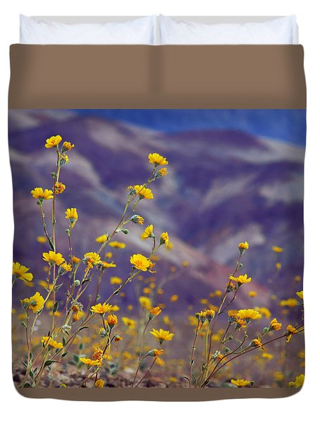 Death Valley Superbloom 103 Duvet Cover by Daniel Woodrum
