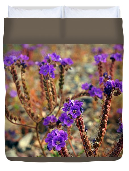 Death Valley Superbloom 106 Duvet Cover by Daniel Woodrum