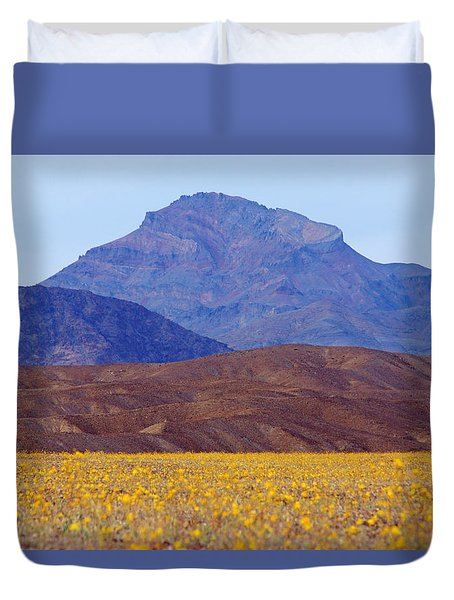 Death Valley Superbloom 201 Duvet Cover by Daniel Woodrum