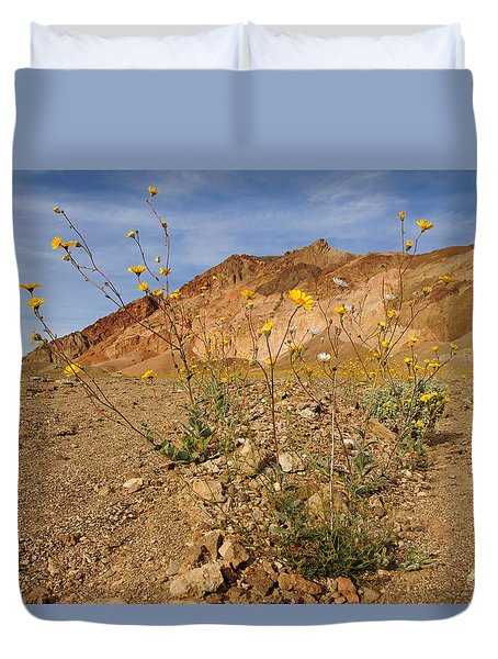 Death Valley Superbloom 202 Duvet Cover by Daniel Woodrum