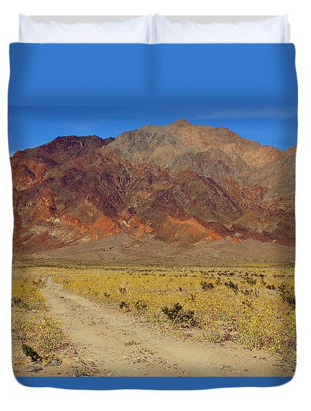 Death Valley Superbloom 205 Duvet Cover by Daniel Woodrum