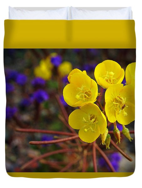 Death Valley Superbloom 206 Duvet Cover by Daniel Woodrum