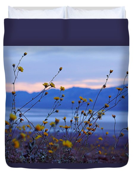 Death Valley Superbloom 304 Duvet Cover by Daniel Woodrum