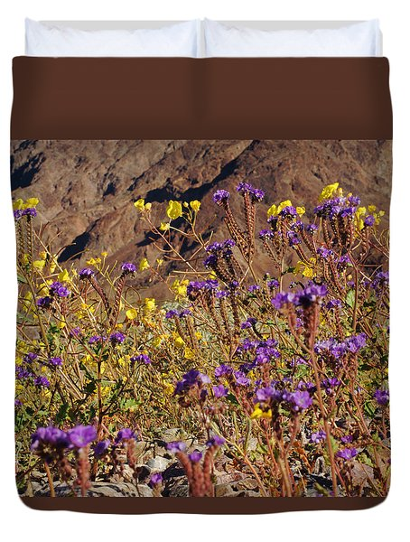 Death Valley Superbloom 401 Duvet Cover by Daniel Woodrum