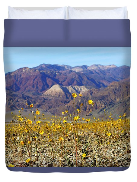 Death Valley Superbloom 405 Duvet Cover by Daniel Woodrum