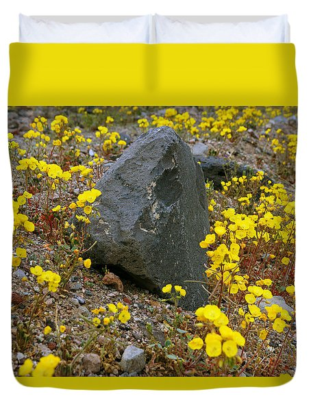 Death Valley Superbloom 406 Duvet Cover by Daniel Woodrum