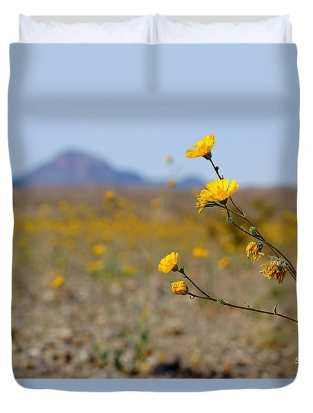 Death Valley Superbloom 501 Duvet Cover by Daniel Woodrum