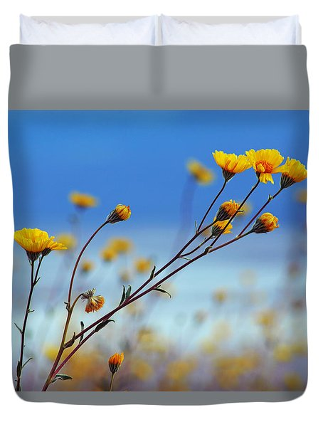 Death Valley Superbloom 502 Duvet Cover by Daniel Woodrum
