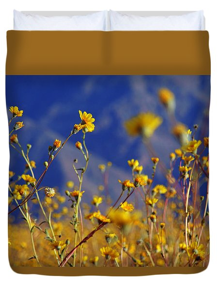 Death Valley Superbloom 505 Duvet Cover by Daniel Woodrum