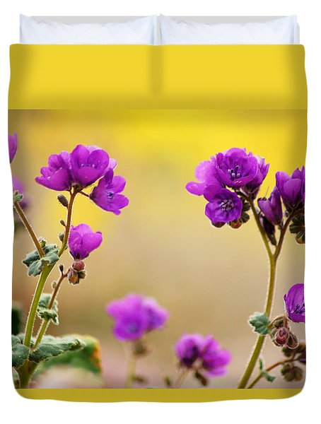 Duvet Cover featuring the photograph Death Valley Superbloom 506 by Daniel Woodrum