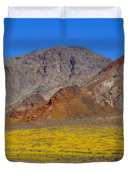 Death Valley Superbloom Duvet Cover