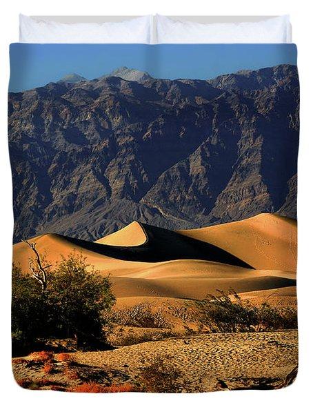 Death Valley's Mesquite Flat Sand Dunes Duvet Cover by Christine Till
