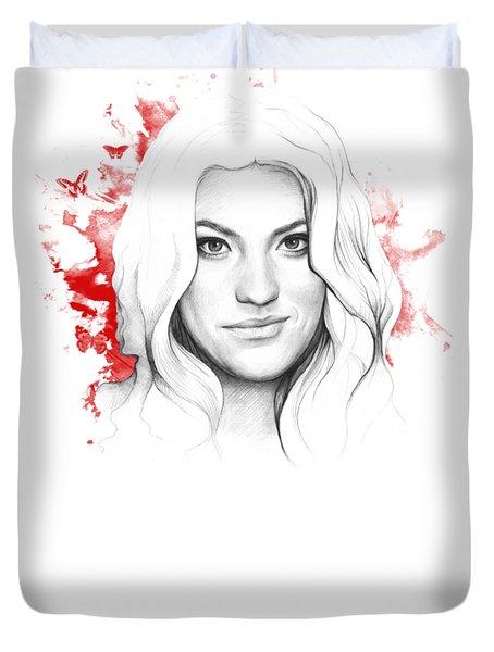 Debra Morgan - Dexter Duvet Cover by Olga Shvartsur