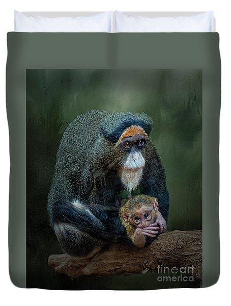 Debrazza's Monkey And Baby Duvet Cover