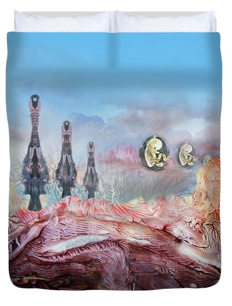 Decalcomaniac Transmission Towers Duvet Cover