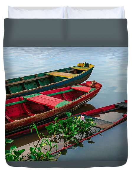 Decaying Boats Duvet Cover