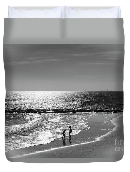December At The Jersey Shore Duvet Cover