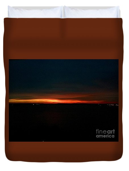 December Dawn,  Rays Of Hope  Duvet Cover by Patricia E Sundik