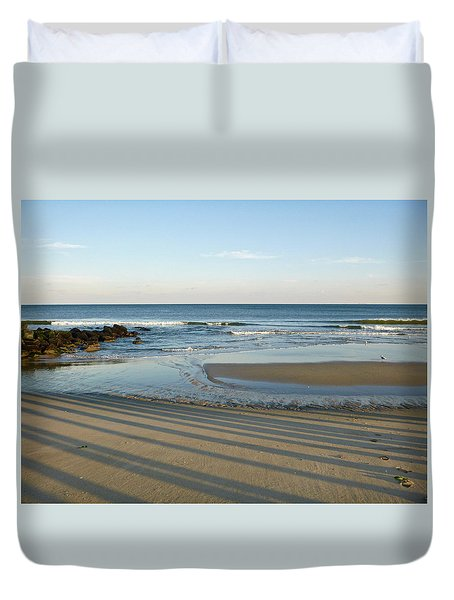 December Evening Shadows Duvet Cover